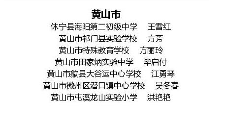"""黄山市7位教师获选""""安徽最美"""""""