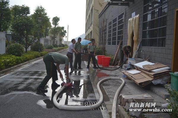 祁门县实验学校:加强警校合作 保障师生用水