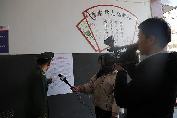 黄山消防联合新闻媒体录制居民小区消防安全专题节目