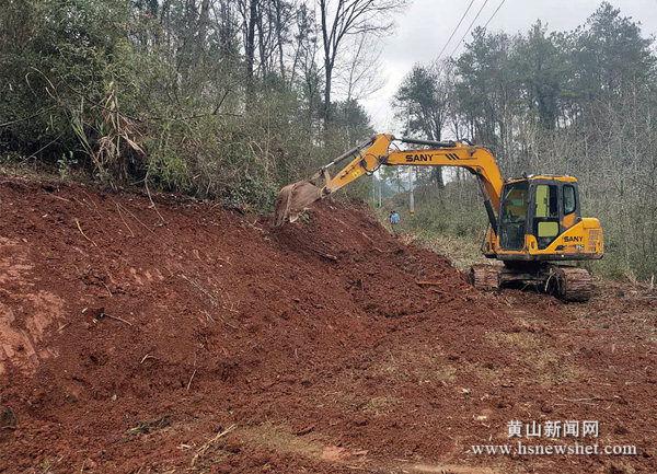 徽州区西溪南镇积极推进防汛道路工程开工建设